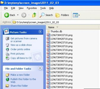 Appnimi Auto Screen Capture - Folder with Captured Images