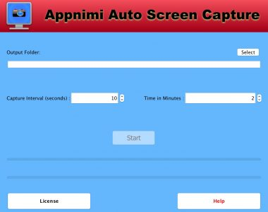Appnimi Auto Screen Capture - Initial Screen