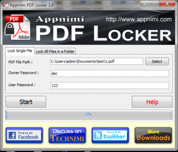 Appnimi PDF Locker Screenshot1