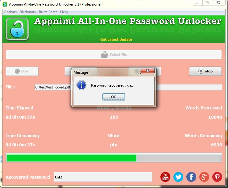 Rar zip password unlocker recovery remover cracker free