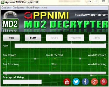 appnimi md2 decrypter for windows - enter hash string