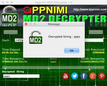 appnimi md2 decrypter for mac - decrypted string