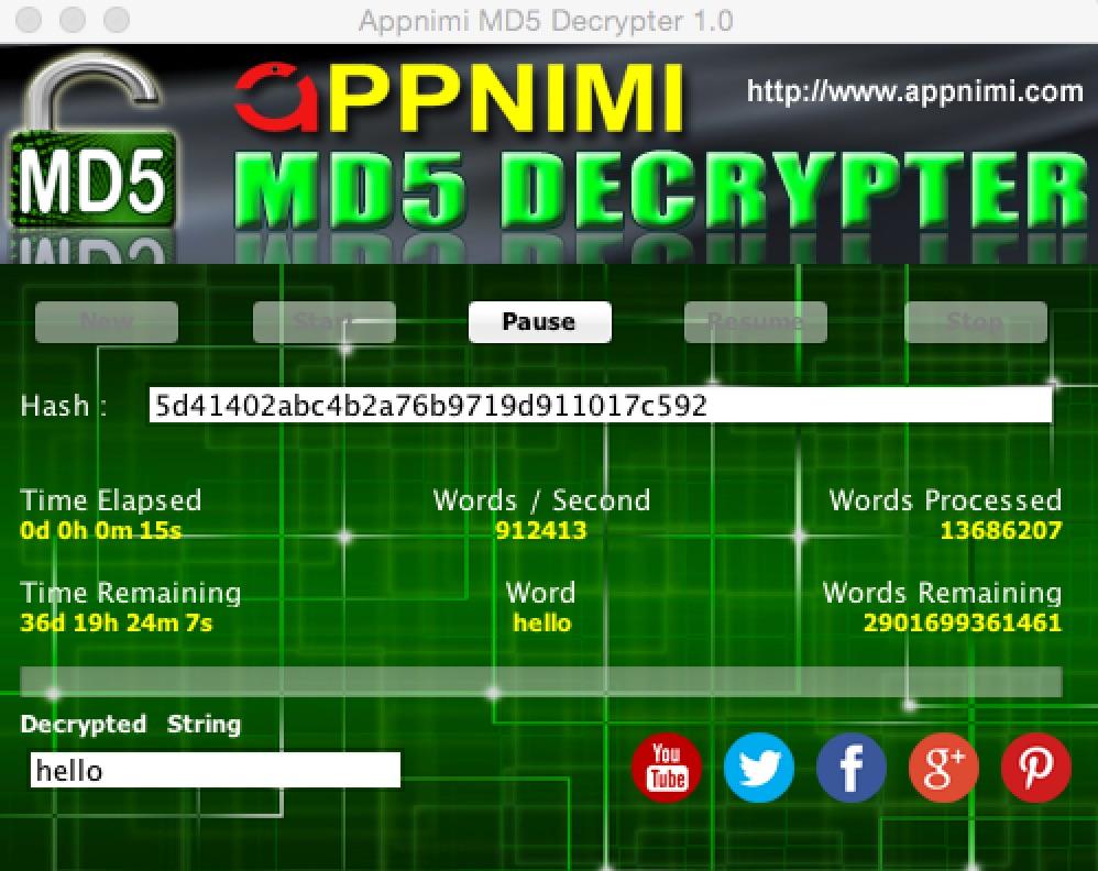 appnimi md5 decrypter for mac - decrypting