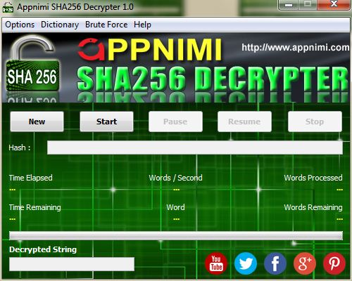 appnimi sha256 decrypter for windows - enter hash string