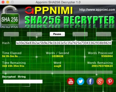 appnimi sha256 decrypter for mac - decrypting