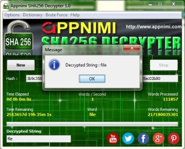 appnimi sha256 decrypter for windows - decrypted string