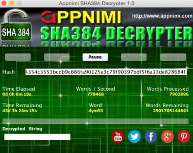 appnimi sha384 decrypter for mac - decrypting