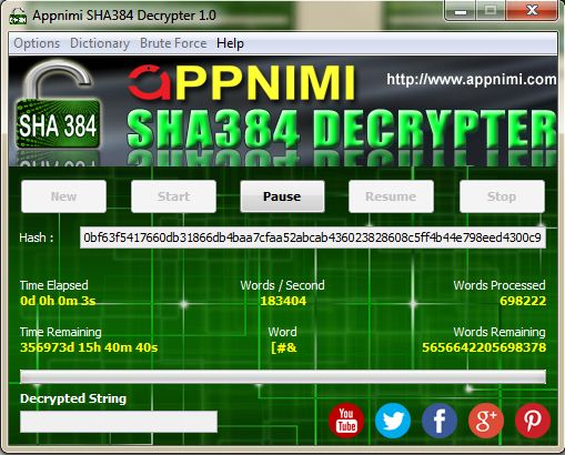 appnimi sha384 decrypter for windows - decrypting