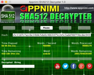 appnimi sha512 decrypter for mac - decrypting