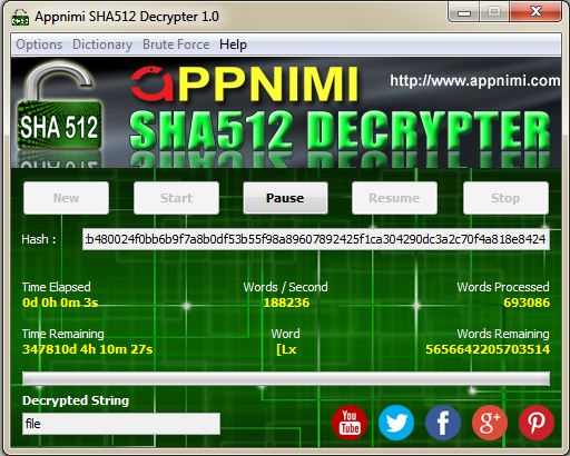 appnimi sha512 decrypter for windows - decrypting