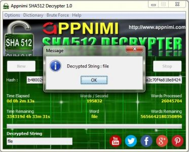 appnimi sha512 decrypter for windows - decrypted string