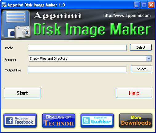 appnimi disk image maker screenshot3