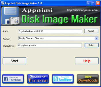 appnimi disk image maker screenshot2
